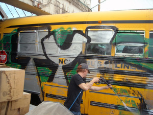 Graffiti removal for Lynch bus Lines